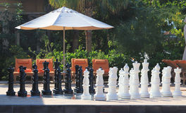 A large chessboard at a luxury resort Stock Photography