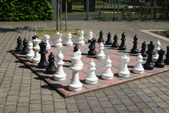 Large chessboard Stock Photos