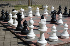 Large chessboard Royalty Free Stock Image