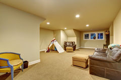 Large childrens play room with carpet. Royalty Free Stock Photo