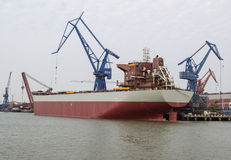 Large Chinese Freight Ship Stock Photography