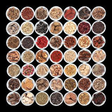 Large Chinese Herbal Medicine Collection Royalty Free Stock Images