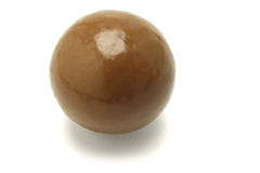Large chocolate ball Stock Images