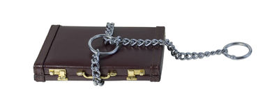 Large Choke Chain on a Briefcase Stock Image
