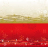 Large Christmas background in two colours. Double large Christmas background in two colours, gold and red stock illustration