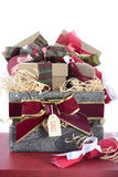 Large Christmas Gift Hamper vertical Royalty Free Stock Photography