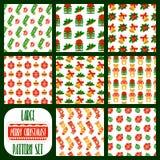 Large Christmas pattern set. Stock Photos