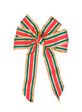 Large Christmas Ribbon, Isolated. Royalty Free Stock Photography