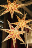 Large Christmas star as decor in the House Royalty Free Stock Photography