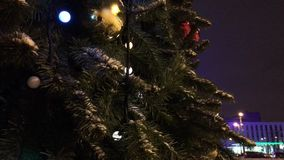 A large Christmas tree stock footage