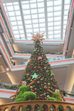 The large christmas tree at mall. Christmas tree at Festival Walk mall at 2016 Stock Photography