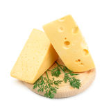 Large chunks of cheese Royalty Free Stock Photography
