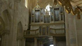 Large Church Pipe Organ stock video