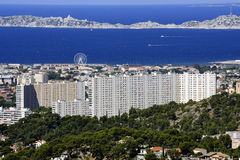 Large cited popular building on the heights of Marseille Stock Photos
