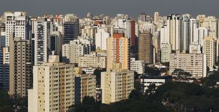Large cities of South America Royalty Free Stock Images
