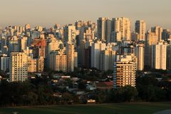 Large cities of South America stock photography