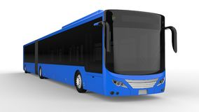 A large city bus with an additional elongated part for large passenger capacity during rush hour or transportation of people in de. Nsely populated areas. Model Royalty Free Stock Images