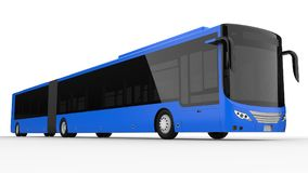 A large city bus with an additional elongated part for large passenger capacity during rush hour or transportation of people in de. Nsely populated areas. Model Royalty Free Stock Photos