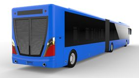 A large city bus with an additional elongated part for large passenger capacity during rush hour or transportation of people in de. Nsely populated areas. Model Royalty Free Stock Photography