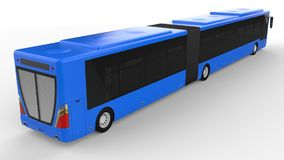 A large city bus with an additional elongated part for large passenger capacity during rush hour or transportation of people in de. Nsely populated areas. Model Stock Photos