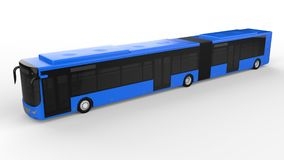 A large city bus with an additional elongated part for large passenger capacity during rush hour or transportation of people in de. Nsely populated areas. Model Stock Photo