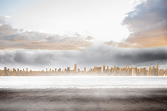 Large city on the horizon Royalty Free Stock Photography