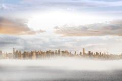 Large city on the horizon Stock Photography