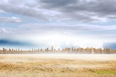 Large city on the horizon Royalty Free Stock Images