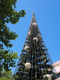 Large Civic Christmas Tree. A large Christmas tree erected by civic, municipal local government or town authorities or councils stock photos