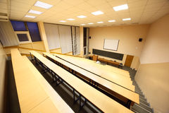 Large classroom, university lecture hall Royalty Free Stock Images