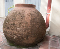 Large Clay Vase or `Tinajon` typical of Camaguey, Cuba Royalty Free Stock Images