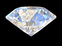Large Clear Diamond on dark background. 3d Stock Images
