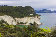 Large Cliffs near Cathedral Cove, New Zealand Stock Image