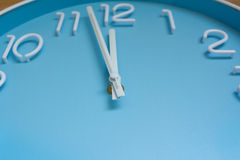 Large clock face on wood background. Stock Photography