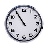 Large clock shows five minutes to eleven Royalty Free Stock Photos