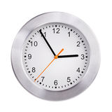 Large clock shows five minutes to three Royalty Free Stock Photo