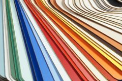 A large close-up on a color picker, a laminate template royalty free stock photo