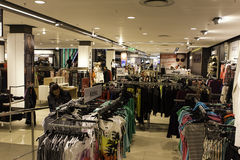 Large Clothing shop interior Stock Photography