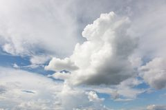 Large clouds in the sky Royalty Free Stock Image