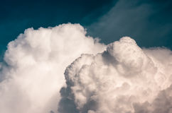Large clouds before a storm, natural background Stock Image