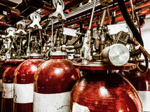 Large CO fire extinguishers Stock Photography