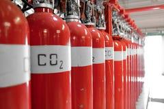 Large CO2 Fire Extinguishers Royalty Free Stock Image