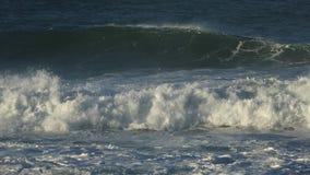 Large coastal waves stock video