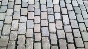 Large cobbled paving stones stock photo