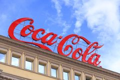 Large Coca-Cola outdoor advertisement Royalty Free Stock Image