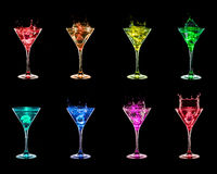 Large cocktail collection Royalty Free Stock Photography