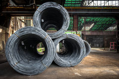 Large coil of Aluminum wire Royalty Free Stock Photo