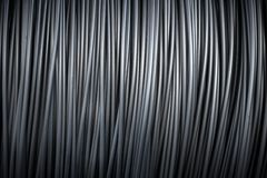 Large coil of Aluminum wire Royalty Free Stock Images