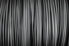 Large coil of Aluminum wire Stock Photography