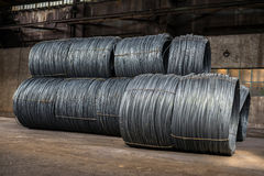 Free Large Coil Of Aluminum Wire Stock Image - 35093681